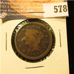 1847 U.S. Large Cent, G.