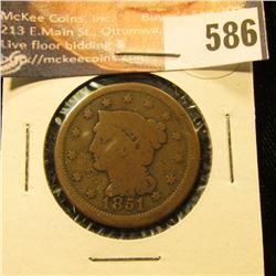 1851 U.S. Large Cent, G.