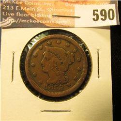 1853 U.S. Large Cent, VG.