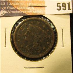 1854 U.S. Large Cent, VG.