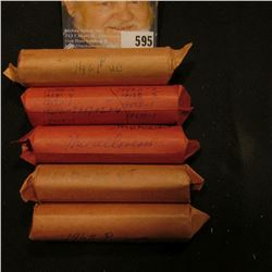 (5) Rolls of Lincoln Cents, most of which are early Memorial Cents, some in high grade.