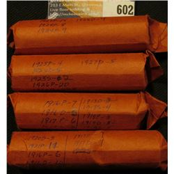 (200) U.S. Lincoln Cents dating before 1928 in paper wrappers.