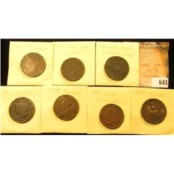 (7) U.S. Large Cents 1840-1846 with Various wear and damages.