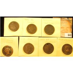 (7) U.S. Large Cents 1846-1850 with Various wear and damages.
