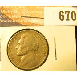 1950 D VF, Jefferson Nickel.
