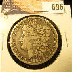 1892 O Morgan Dollar, Fine.