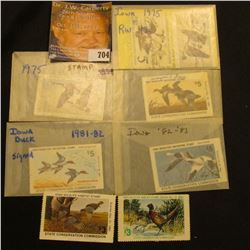 (8) different Migratory Waterfowl & Habitat Stamps dating in the 1970s & 1980s. All used.