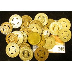(29) Transportation Tokens and etc, includes a Mexican Centavos Coin.