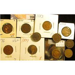 1864 Bronze (damaged), 1875 G, 83 AG, 87 (damaged), 89 Fine, 90 G, 91 Fine (dark), 96 G, 97 G (dark)