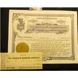 "September, 1959 Stock Certificate, issued ""North American Equitable Life Assurance Company"", gold em"