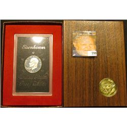 1973 S Silver Proof Eisenhower Dollar, original as issued in government box.