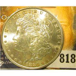 1886 P U.S. Morgan Silver Dollar, Brilliant Uncirculated.