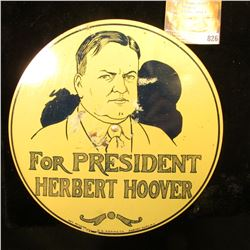 1928 License Plate metal attachment Hoover/Al Smith. 'Doc' states it was Rare and valued it at $95 y