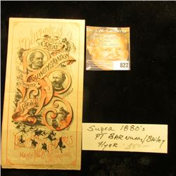 "Super Rare ""Souvenir of Great P.T. Barnum/Barnum and London/15 United/Shows Illustrating a few of th"