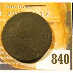 1802/3?? U.S. Large Cent, Fair, (holed)