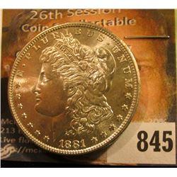1881 S U.S. Morgan Silver Dollar. Superb Gem BU.