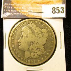 1894 O U.S. Morgan Silver Dollar, VG.