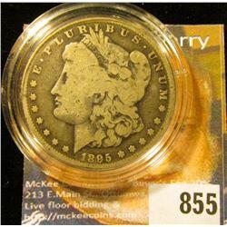 1895 O U.S. Morgan Silver Dollar, VG. Encapsulated.
