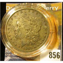 1899 P U.S. Morgan Silver Dollar, VF-EF. Heavily toned.