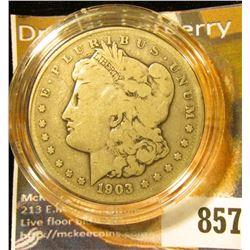 1903 S U.S. Morgan Silver Dollar, Fine.