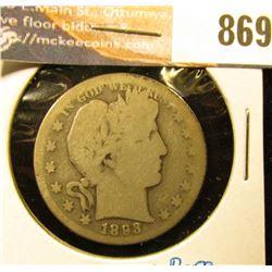 1893 S U.S. Barber Half-Dollar, AG
