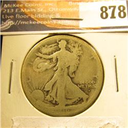 1916 D Walking Liberty Half-Dollar, AG-G.