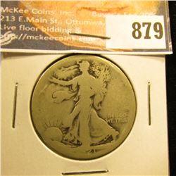 1921 S Walking Liberty Half-Dollar, AG-G.