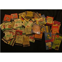 Nice collection of Old Match Book Advertising Covers.