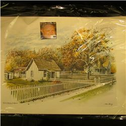 """12"""" x 17"""" Color Print of """"Herbert Hoover Birthplace West Branch, Iowa""""."""
