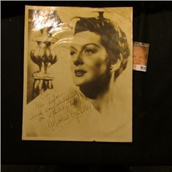 """8"""" x 9 3/4"""" Black and White self standing Photo of Catherine Rosalind Russell, famous actress. Perso"""