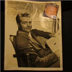 """8"""" x 10"""" Studio Photo personally autographed """"Best of luck Idood it Red Skelton"""", tear in photo at b"""