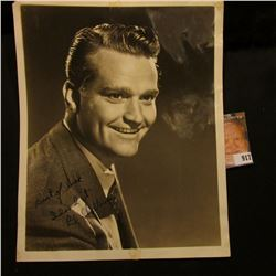 """8"""" x 10"""" Early Studio Photo of Red Skelton personally autographed """"Best of luck Idood it Red Skelton"""