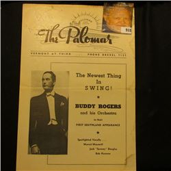 """""""Palomar Dining Dancing The Paloma Vermont At Third…Phone Drexel 7131"""" with cover of Buddy Rogers. P"""