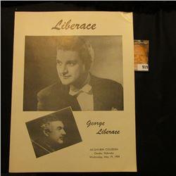 "Original Program ""Liberace George Liberace Ak-Sar-Ben Coliseum Omaha, Nebraska Wednesday, May 19, 19"