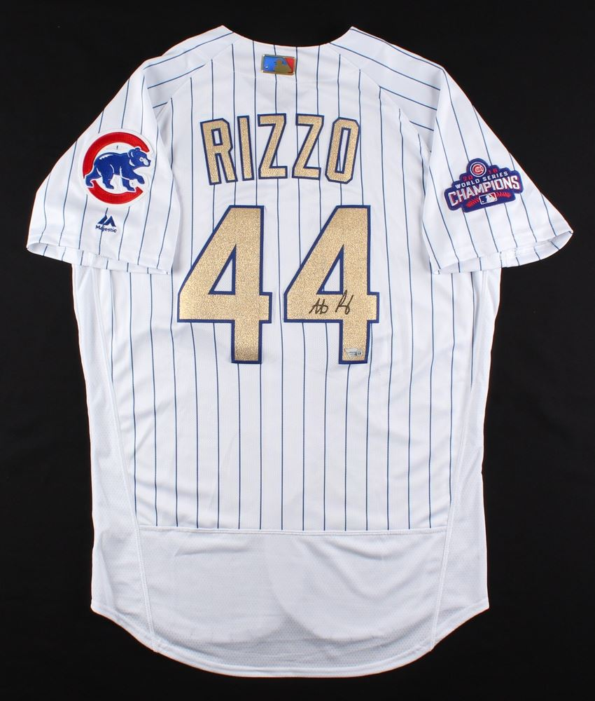 size 40 26680 18a1e Anthony Rizzo Signed Cubs Authentic Majestic 2016 World ...