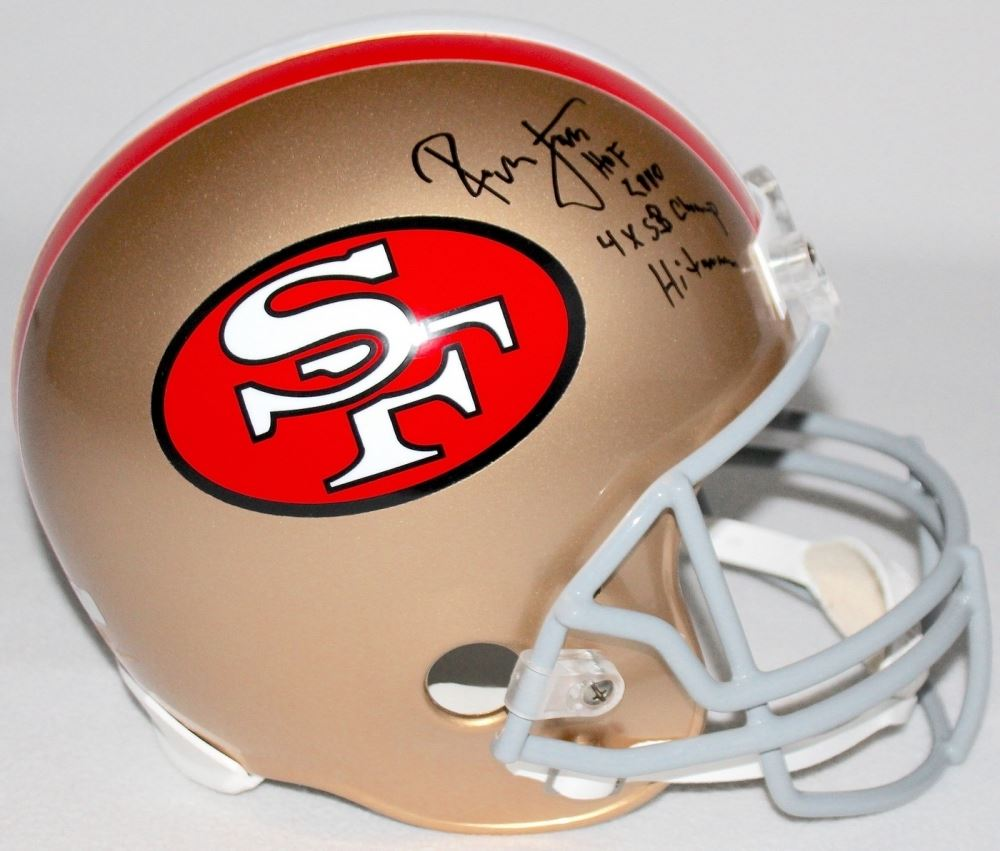 99f996f56 Image 1   Ronnie Lott Signed 49ers Full-Size Helmet Inscribed