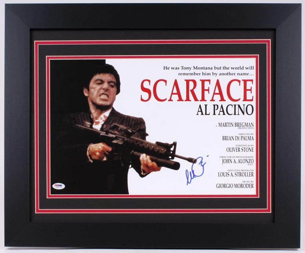 SCARFACE AL PACINO SIGNED TONY MONTANA PRINT