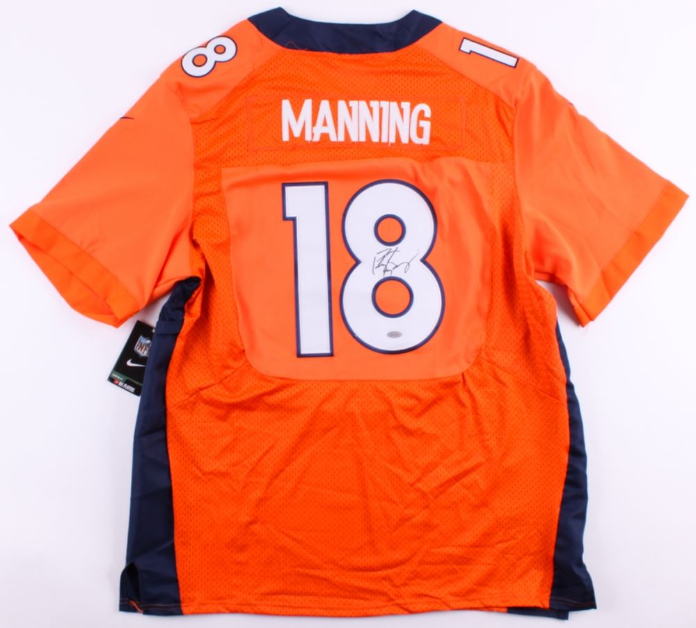 save off 9bb1a 9c447 Peyton Manning Signed Broncos Authentic Jersey (Steiner ...