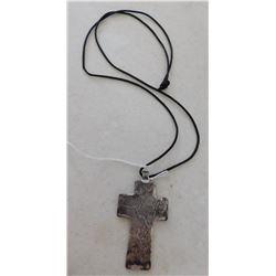 Silver Cross Pendant w/Cord