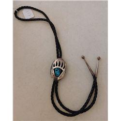 Sterling Silver Bear Claw Bolo Tie
