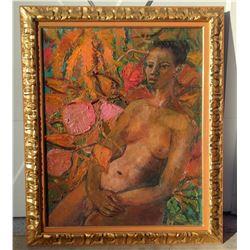 Irma Stern  LadyPortrait  Oil on Canvas (1894-1966)