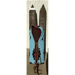 Fully-Beaded Cradleboard w/Skis