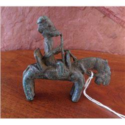 Dogon Horse & Rider Bronze