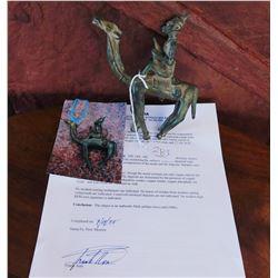 Dogon Man-on-Camel Bronze w/Report-COA