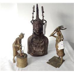 3 African Bronzes