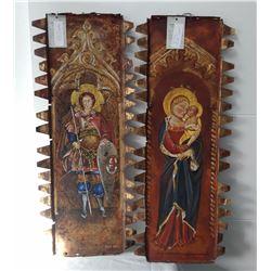 2 Religious Tin Paintings