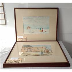 2 Original Framed Watercolors