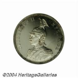 Wilhelm II 1/2 Rupie 1906A, Military bust