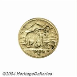 Wilhelm II gold 15 Rupien 1916-T, KM16.2,