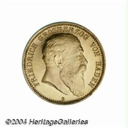 Baden. Friedrich I gold 10 mark 1903G, Bust